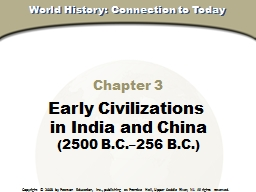 Chapter 3 Early Civilizations