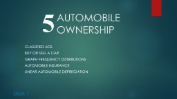 AUTOMOBILE OWNERSHIP    5-1