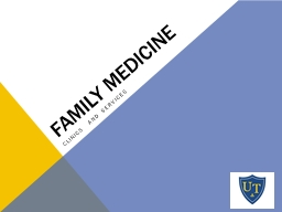 Family   Medicine Clinics and Services