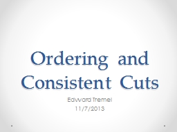 Ordering and Consistent Cuts