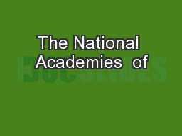 The National Academies  of
