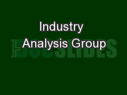 Industry Analysis Group