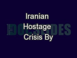Iranian Hostage Crisis By