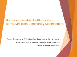 Barriers to Mental Health Services: