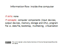 Information flow inside the computer