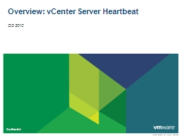 Overview: vCenter Server Heartbeat