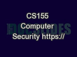CS155 Computer Security https://