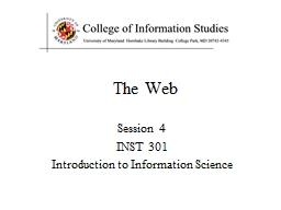 The  Web Session  4 INST 301