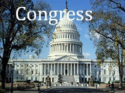 Congress The Role of Legislators