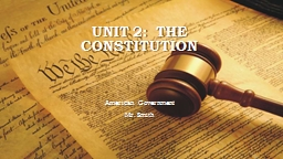 Unit 6:  Why THIS type of government?  How did we get here