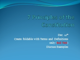 7 Principles of the Constitution