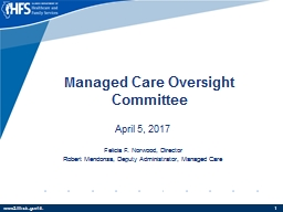 M anaged Care Oversight Committee PowerPoint PPT Presentation