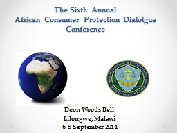 The  S ixth Annual  African Consumer