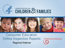 Consumer Education: Online Inspection Reports