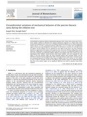 Circumferential variations of mechanical behavior of t