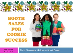 Booth sales  for  cookie success