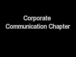 Corporate Communication Chapter