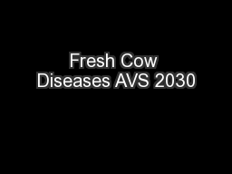 Fresh Cow Diseases AVS 2030
