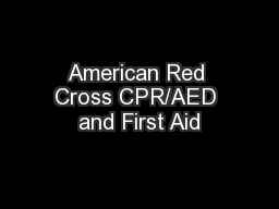 American Red Cross CPR/AED and First Aid