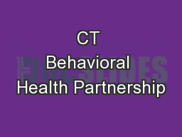 CT Behavioral Health Partnership