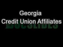 Georgia Credit Union Affiliates