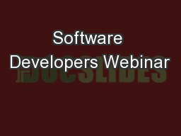 Software Developers Webinar