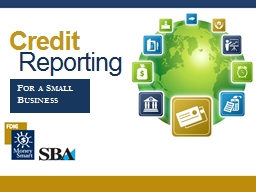 Credit Reporting For a Small Business