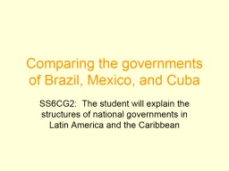 Comparing the governments of Brazil, Mexico, and Cuba PowerPoint PPT Presentation