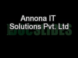 Annona IT Solutions Pvt. Ltd