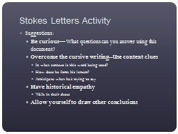 D-DAY  June 6, 1944 Stokes Letters Activity PowerPoint PPT Presentation