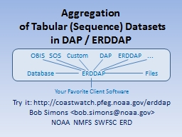 Aggregation  of Tabular (Sequence) Datasets