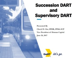 Succession DART and Supervisory DART PowerPoint PPT Presentation