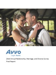 2016 Annual Relationship, Marriage, and Divorce Survey
