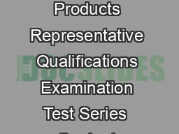 Investment Company And Variable Contracts Products Representative Qualifications Examination Test Series  Content Outline   FINRA INTRODUCTION