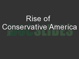 Rise of Conservative America