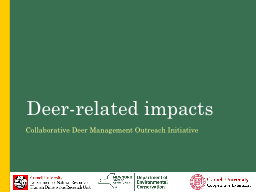 Deer-related  Impacts Collaborative Deer Management Outreach Initiative