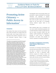 Promoting Active Citizenry Public Access to Informatio