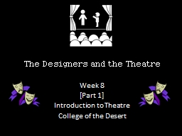The Designers  and the Theatre