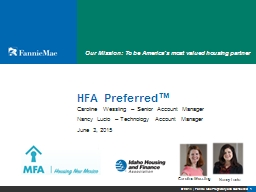 HFA Preferred ™   Nancy Lucio