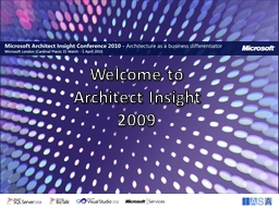 Welcome to  Architect Insight
