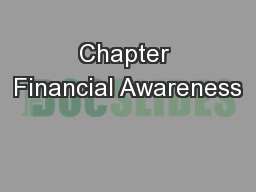 Chapter Financial Awareness