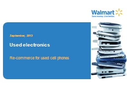 Re-commerce for used cell phones