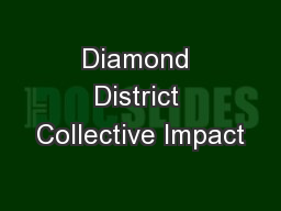 Diamond District Collective Impact