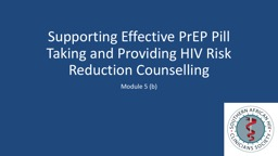 Supporting E ffective  PrEP