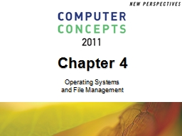 Chapter 4 Operating Systems