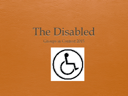 The Disabled Groups in Context 2015