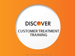 Customer Treatment Training