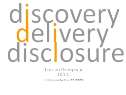 d i scovery Lorcan  Dempsey
