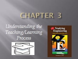 Chapter 3 Understanding the Teaching/Learning Process