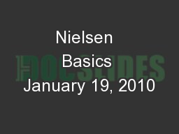 Nielsen  Basics January 19, 2010